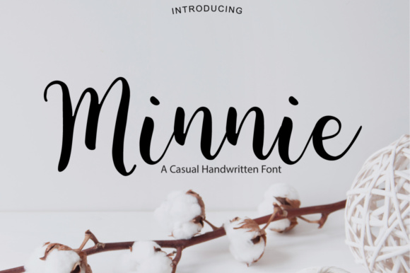 Print on Demand: Minnie Script & Handwritten Font By PaulaType