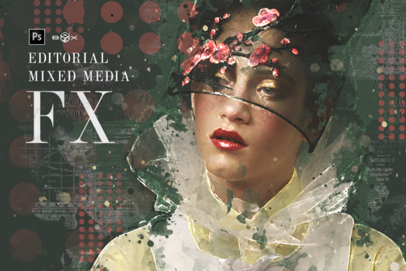 Mixed Media FX Photoshop Add-on Extension Graphic Add-ons By Gianluca Giacoppo