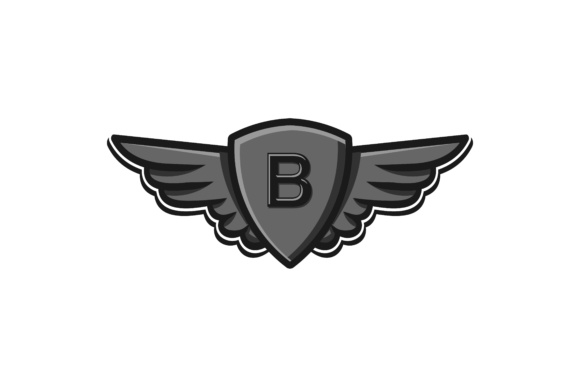Download Free Modern Wings And Shield Initial B Logo Graphic By for Cricut Explore, Silhouette and other cutting machines.