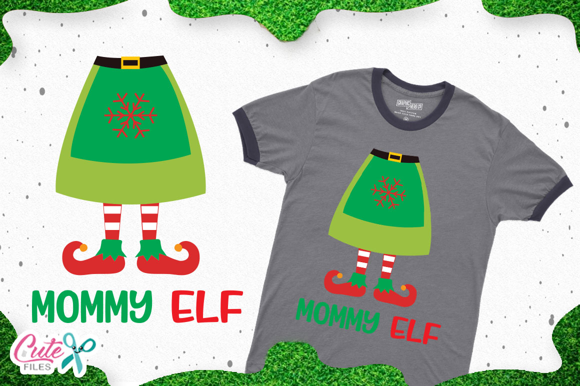 Download Free Mommy Elf Christmas Cut Files For Craftters Graphic By Cute for Cricut Explore, Silhouette and other cutting machines.