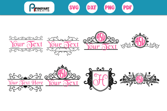 Monogram Frame Mini Bundle Graphic Crafts By Pinoyartkreatib