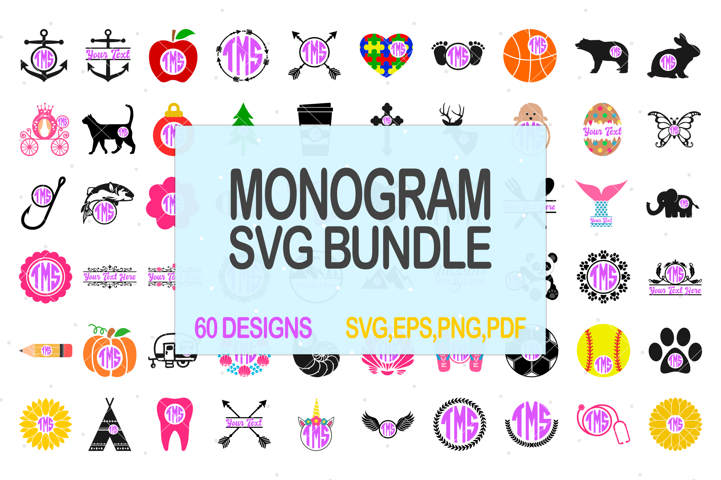 Download Free Monogram Bundle Graphic By Pinoyartkreatib Creative Fabrica for Cricut Explore, Silhouette and other cutting machines.
