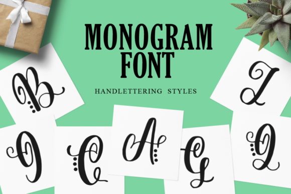 Print on Demand: Monogram Display Font By Typefar