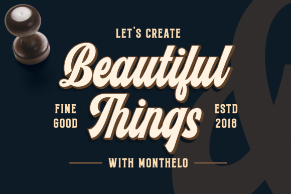 Print on Demand: Monthelo Display Font By Blankids Studio - Image 3