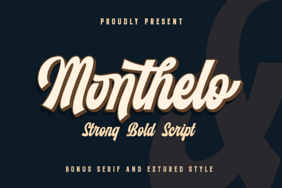 Print on Demand: Monthelo Display Font By Blankids Studio - Image 1