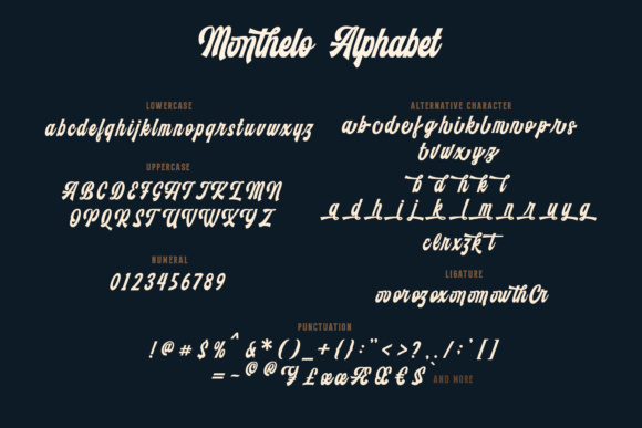 Print on Demand: Monthelo Display Font By Blankids Studio - Image 7