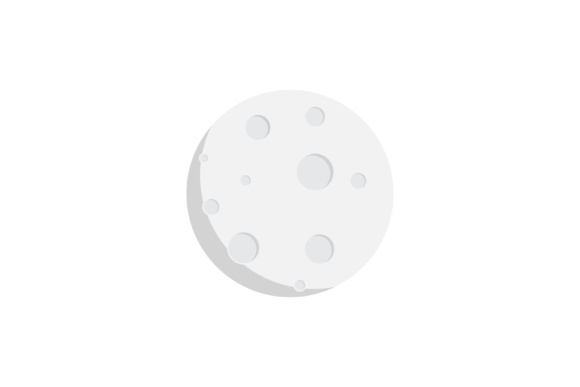 Print on Demand: Moon Icon Flat Design Graphic Icons By sabavector