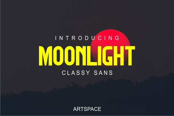 Print on Demand: Moonlight Sans Serif Font By MJB Letters