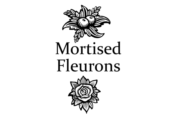 Print on Demand: Mortised Fleurons Dingbats Font By Intellecta Design