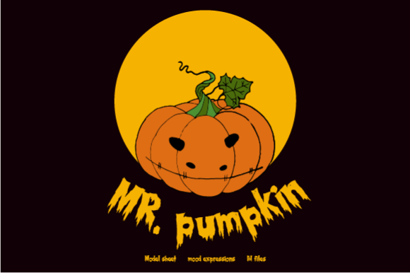 Download Free Mr Pumpkin Graphic By Hamelinckmichael Creative Fabrica for Cricut Explore, Silhouette and other cutting machines.