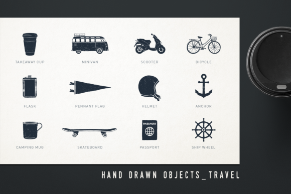 Print on Demand: Mr.Hipster. 37 Hand Drawn Objects Graphic Objects By Cosmic Store - Image 5
