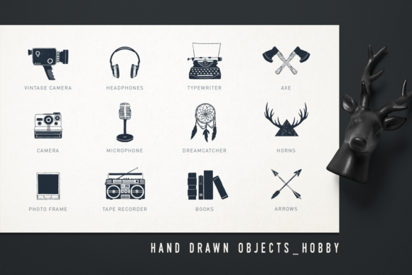 Print on Demand: Mr.Hipster. 37 Hand Drawn Objects Graphic Objects By Cosmic Store - Image 6