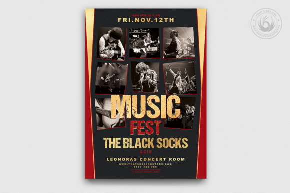 Music Festival Flyer Template Graphic Print Templates By ThatsDesignStore