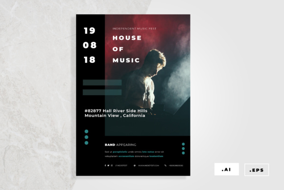 Music Flyer Graphic Print Templates By TMint