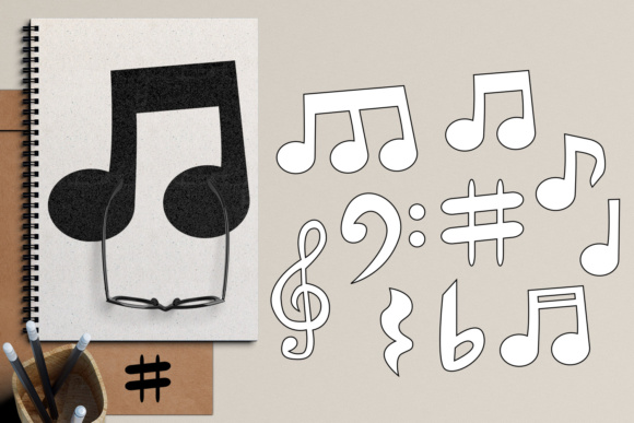 Music Notes Graphic By Revidevi Image 2