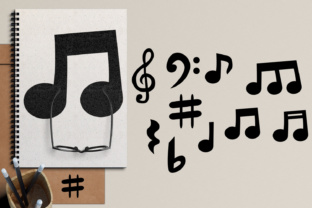 Music Notes Graphic By Revidevi