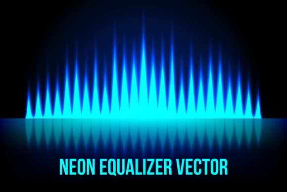Print on Demand: Music Equalizer in the Dark Colors Graphic Backgrounds By ojosujono96