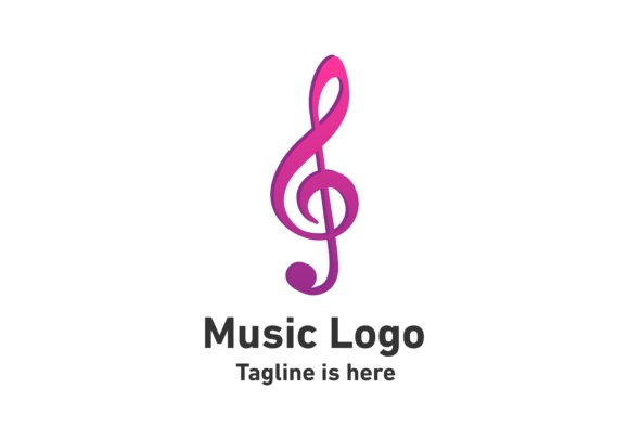 Download Free Music Note Logo Graphic By Deemka Studio Creative Fabrica for Cricut Explore, Silhouette and other cutting machines.