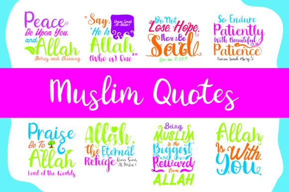 Download Free Muslim Quotes Bundle Graphic By Arief Sapta Adjie Creative Fabrica for Cricut Explore, Silhouette and other cutting machines.