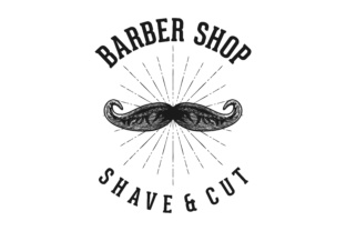 Download Free Mustache Barber Shop Logo Grafico Por Yahyaanasatokillah for Cricut Explore, Silhouette and other cutting machines.