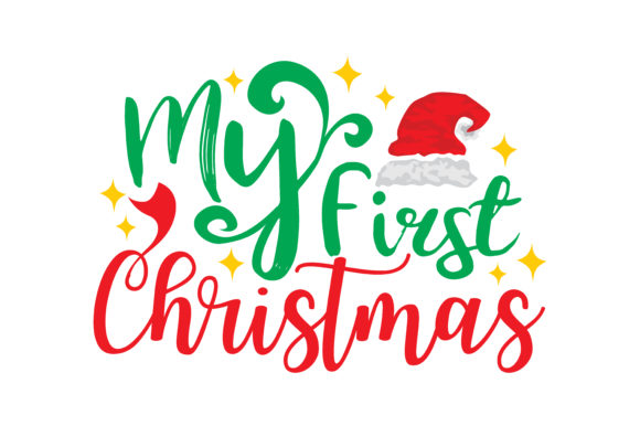 Print on Demand: My Frist Christmas Gráfico Crafts Por TheLucky