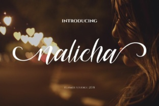 Print on Demand: Nalicha Script Script & Handwritten Font By Flamde Studio