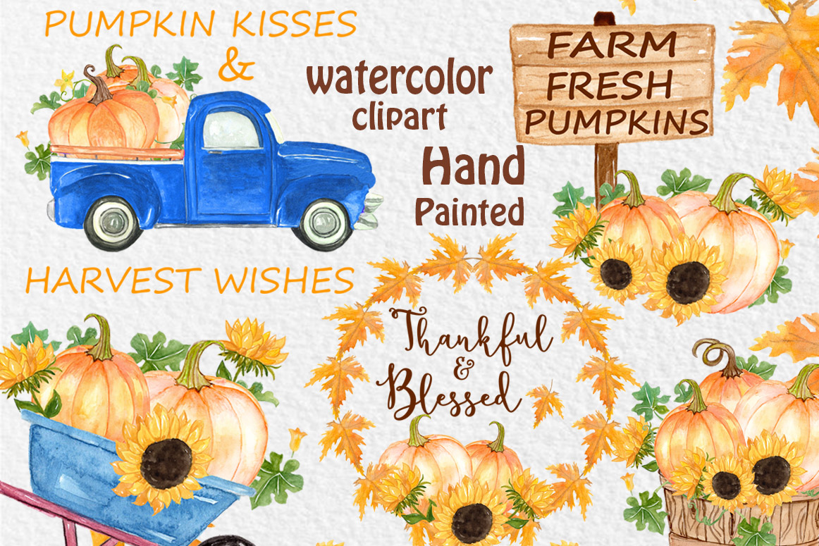 Download Free Pumpkin Truck Clipart Thanksgiving Clipart Graphic By for Cricut Explore, Silhouette and other cutting machines.