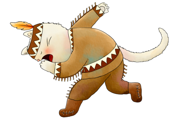 Native Indian Cats Clip Art Graphic By Jen Digital Art Image 7