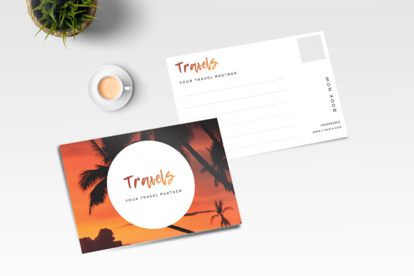 Nature Postcard Graphic Print Templates By TMint
