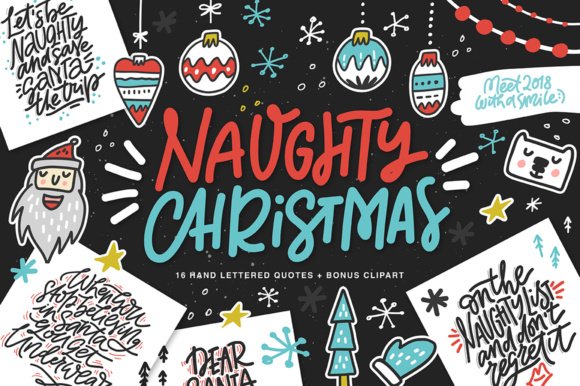Naughty Christmas Graphic Illustrations By Favete Art