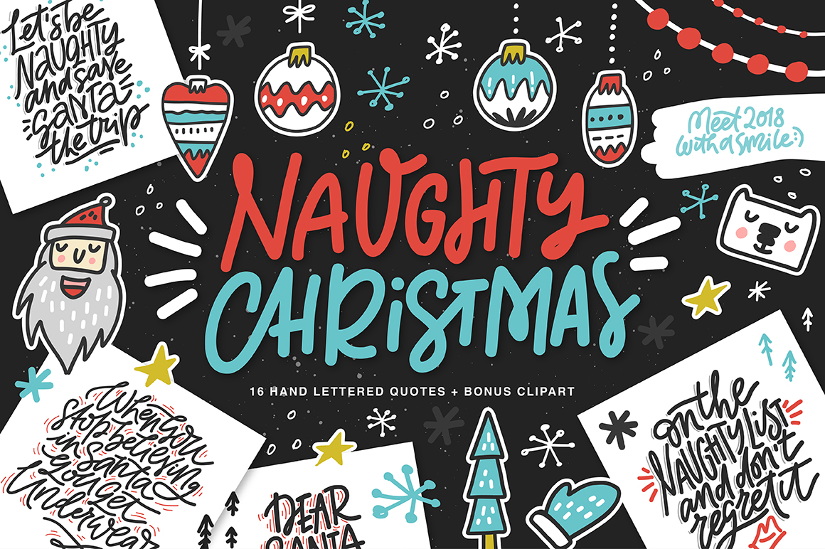 Download Free Naughty Christmas Graphic By Favete Art Creative Fabrica for Cricut Explore, Silhouette and other cutting machines.