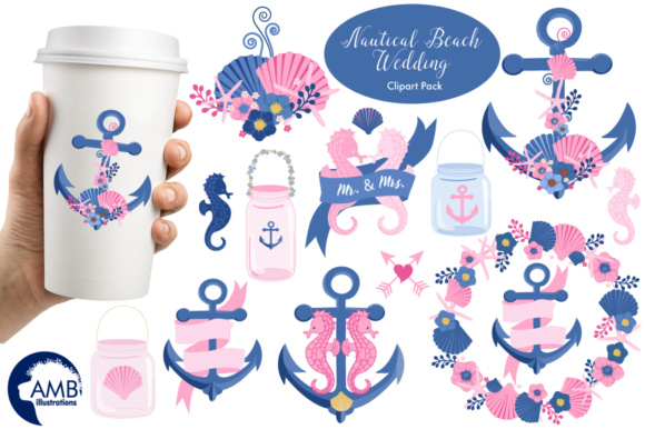 Nautical Beach Clipart Graphic Illustrations By AMBillustrations