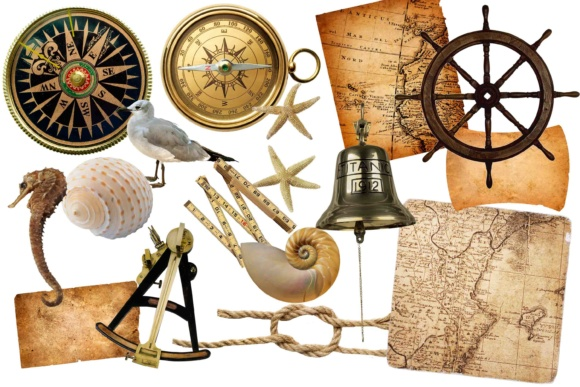 Nautical Clip Art Graphic Illustrations By twelvepapers