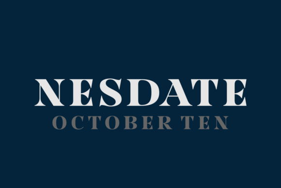 Print on Demand: Nesdate October Ten Serif Font By Situjuh