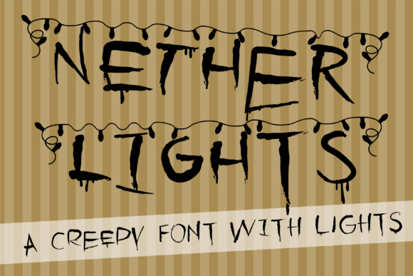 Print on Demand: Nether Lights Display Font By Illustration Ink