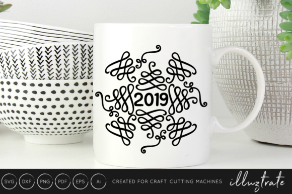 New Years 2019 SVG Cut File Design Bundle Graphic By illuztrate Image 3