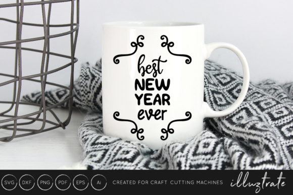 New Years 2019 SVG Cut File Design Bundle Graphic By illuztrate Image 4