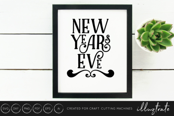 New Years 2019 SVG Cut File Design Bundle Graphic By illuztrate Image 10
