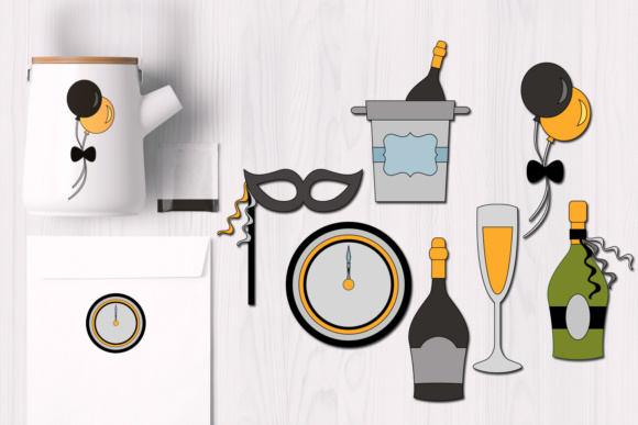 Print on Demand: New Year's Eve Celebration Graphics Graphic Illustrations By Revidevi