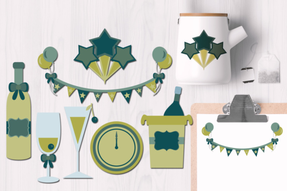 Print on Demand: New Year's Toast Graphics Graphic Illustrations By Revidevi