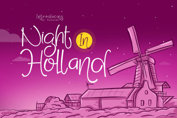 Print on Demand: Night in Holland Display Font By suzurantype - Image 1