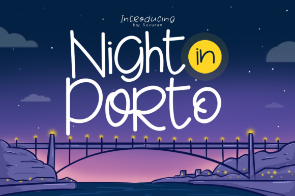 Print on Demand: Night in Porto Display Font By suzurantype