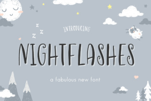 Print on Demand: Nightflashes Display Font By Salt and Pepper Fonts