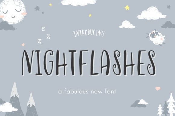 Print on Demand: Nightflashes Display Font By Salt & Pepper Designs