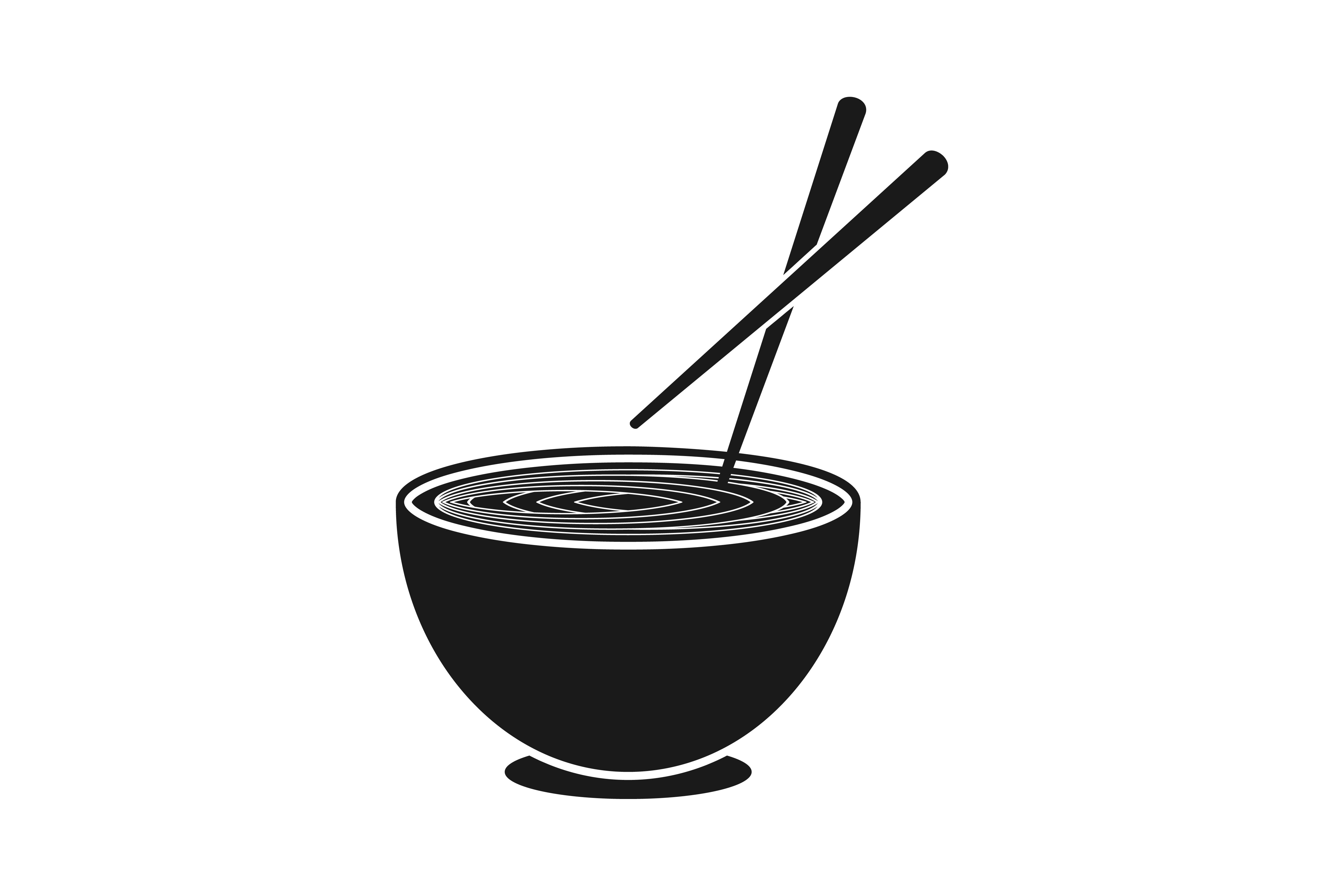 Noodles Chopsticks Japanese Restaurant Logo Graphic By