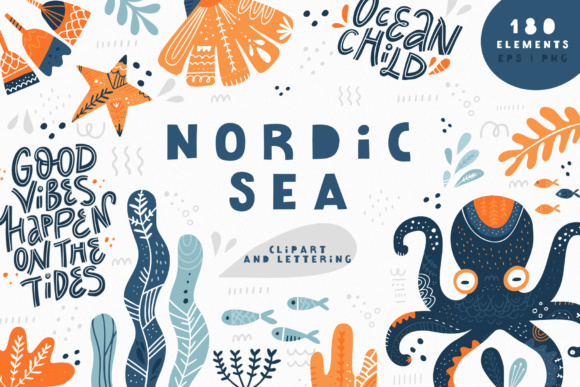 Nordic Sea Graphic Illustrations By Favete Art