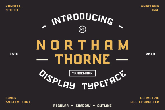 Print on Demand: Northam Thorne Display Font By Runsell Graphic