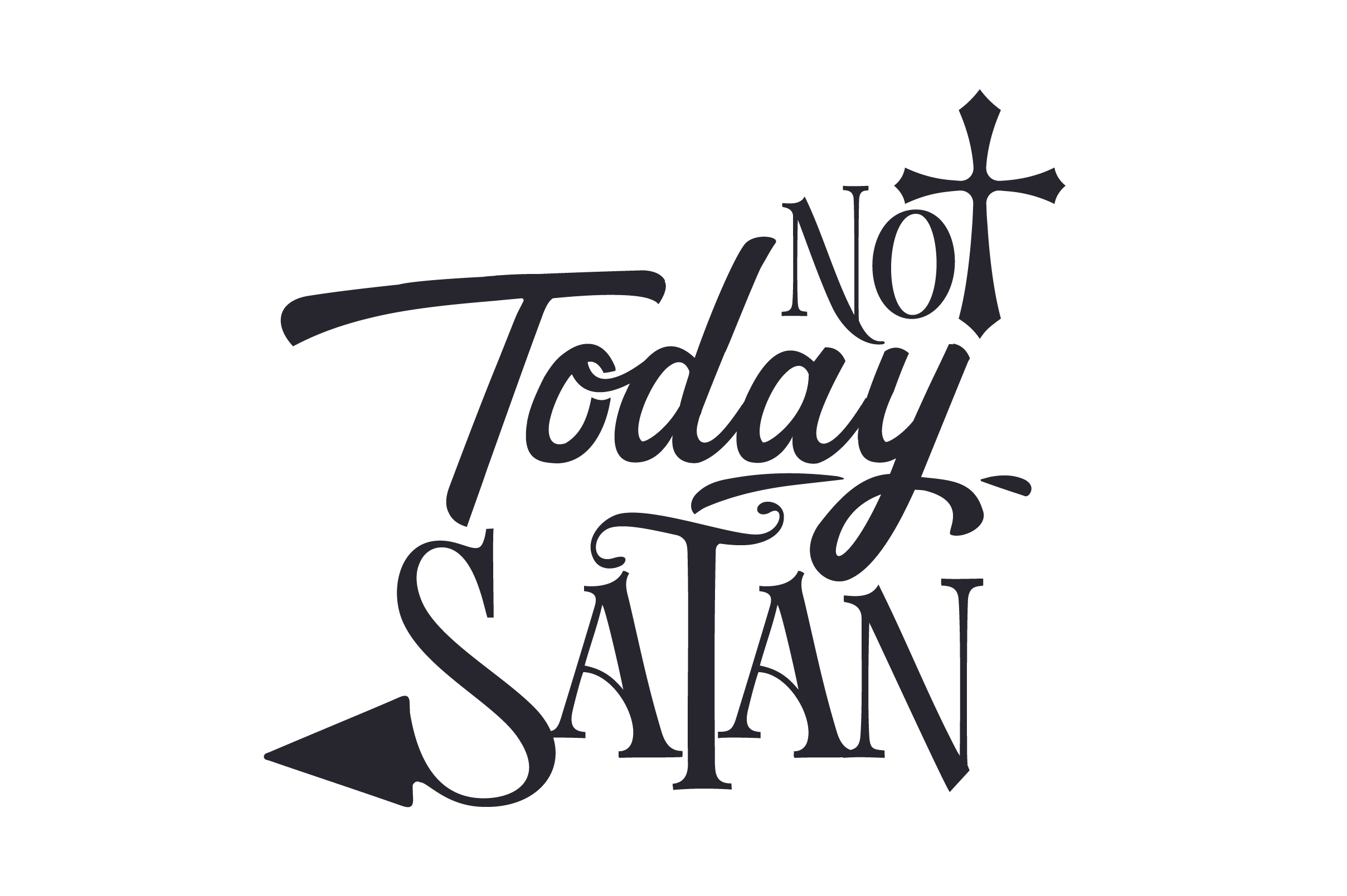Download Free Not Today Satan Svg Cut File By Creative Fabrica Crafts for Cricut Explore, Silhouette and other cutting machines.