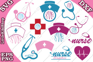 Download Free Nurse Graphic By Littlekikishop Creative Fabrica for Cricut Explore, Silhouette and other cutting machines.