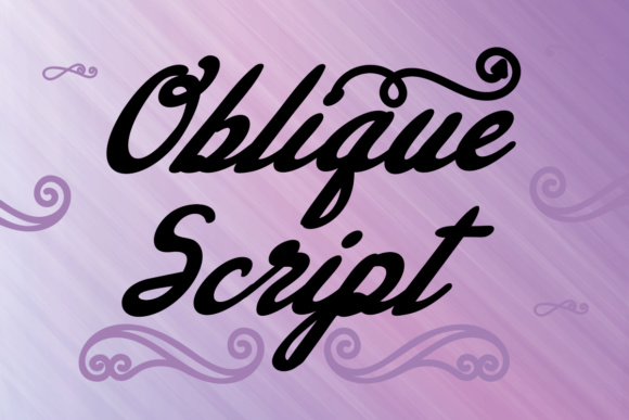 Print on Demand: Oblique Script Script & Handwritten Font By Lickable Pixels